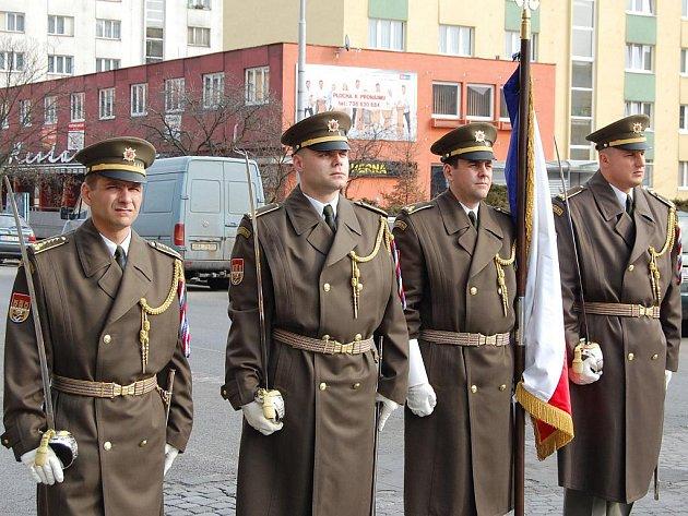 Vzpomínka na umučené československé důstojníky z vojenské odbojové organizace obrana národa.