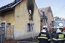 Dům v Brodcích pohltily plameny
