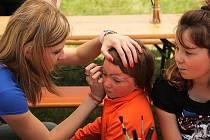 Bodypainting je oblíbený u dětí i dospělých.