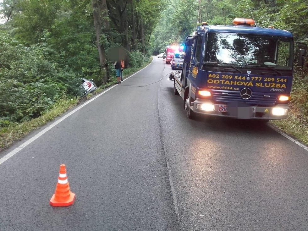Dopravní nehoda u Krnska.