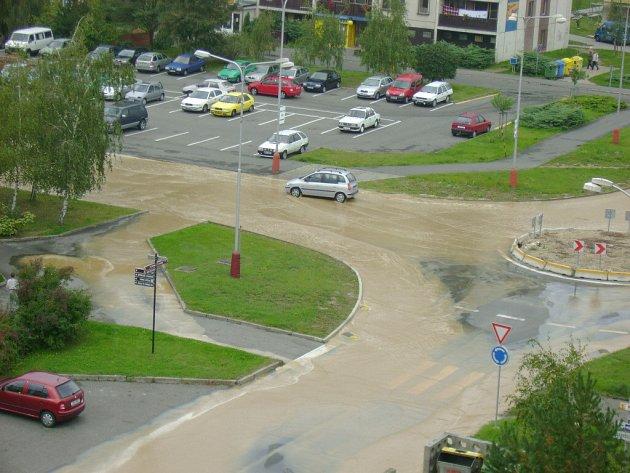 Havlíčkova ulice pod vodou