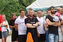 Z prvního ročníku Memoriálu Marka Koštíře, fotbalového turnaje v Dolním Bousově.