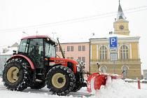 Poslední únorový víkend zasypal Mladoboleslavsko sníh