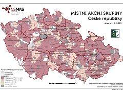 Starší přehled místních akčních skupin (MAS).