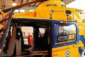 U nehody zasahoval vrtulník