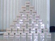 Kostky cukru z Cukrovaru TTD Dobrovice určené pro kampaň v rámci předsednictví Radě EU.