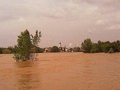 Povodeň 2013 - Mělnicko - ilustrační foto