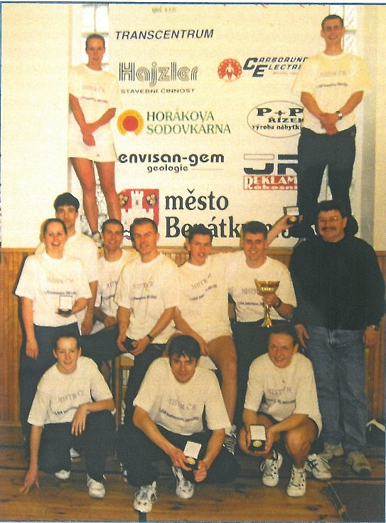 Rok 2002 přinesl benáteckým badmintonistům první ligový titul.