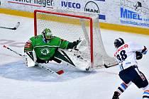 Zápas 44. kola hokejové extraligy vyhrál Liberec na ledě Mladé Boleslavi 2:1 po prodloužení.