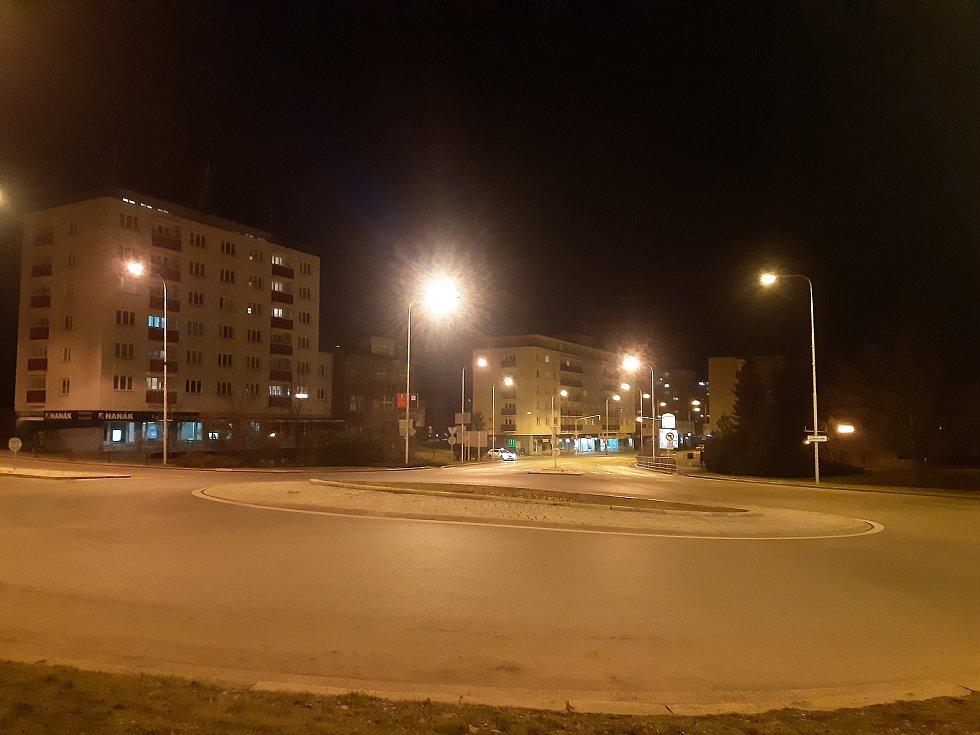 Noční Mladá Boleslav.