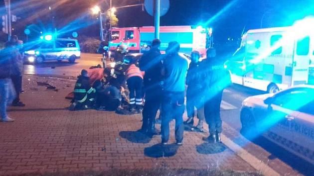 Noční nehoda v Mladé Boleslavi