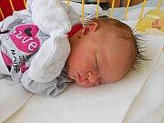 Jolanka Nováková se narodila 29. dubna, vážila 3,12 kg a měřila 47 cm. Maminka Ilona a tatínek Ondřej si ji odvezou domů do Pískové Lhoty, kde už se na ni těší sestřička Lilinka.