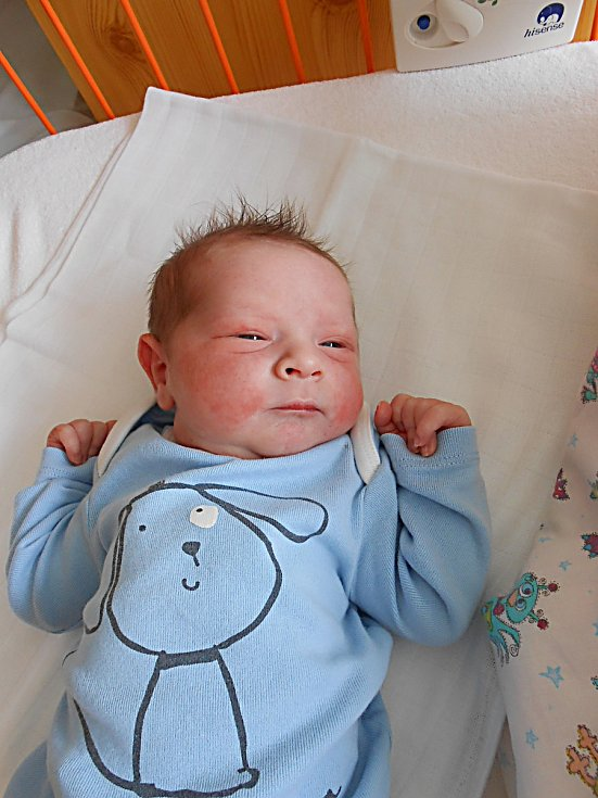 Jaromír Steiner se narodil 20. června, vážil 2,85 kg a měřil 48 cm. Maminka Olga a tatínek Martin si ho odvezou domů do Domousnice, kde už se na něho těší sourozenci Martin, Magda a Olča.