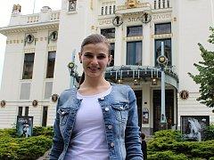 Nina Horáková před svým posledním představení v rámci boleslavského angažmá.