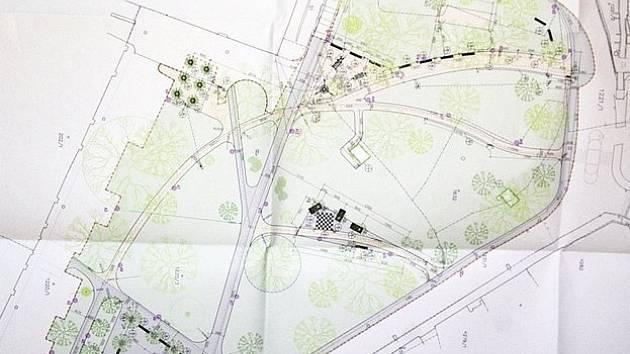 Vizualizace budoucí podoby parku na Komenského náměstí