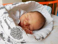 LUDĚK Mlejnek se narodil 2. února. V době porodu byla známa pouze jeho hmotnost 3,05 kg. S maminkou Petrou a tatínkem Luďkem bude bydlet v Benátkách nad Jizerou.