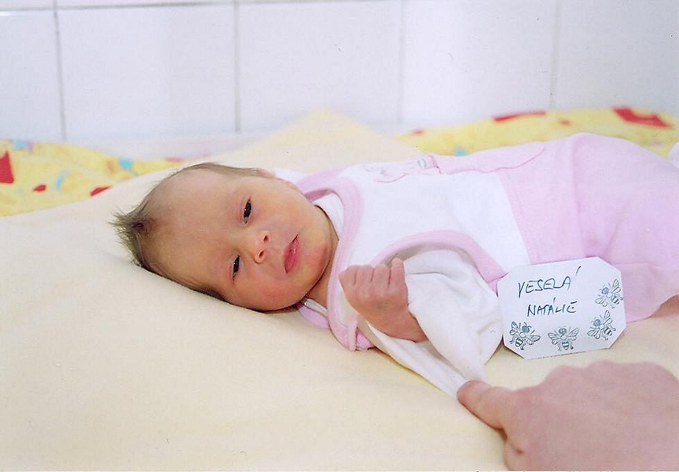 S váhou 2,3 kg a délkou 45 cm přišla 22. března na svět Natálka Veselá. S maminkou Petrou a tatínkem Tomášem bydlí v Milovicích.