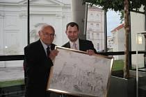 Dan Marek s režisérem Václavem Vorlíčkem, který byl také hostem Ozvěn.