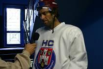 Hokejista Petr Nedvěd trénoval v Benátkách nad Jizerou