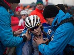 Tereza Vaníčková v cíli závodu mistrovství světa