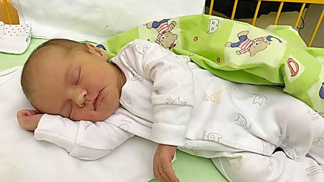 Helenka Matějková se narodila 9. ledna, vážila 3,61 kg a měřila 48 cm. S maminkou Šárkou a tatínkem Jirkou bude bydlet v Kamenici.