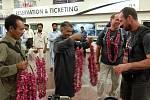 Petr Mašek na letišti v Islamabádu