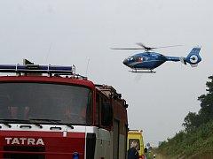 ilustrační foto - nehoda hasiči a vrtulník