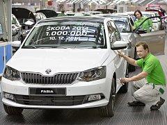 Letošním miliontým vozem je nová Škoda Fabia 1,2 TSI/81 kW. Z výrobní linky sjela ve středu ráno.
