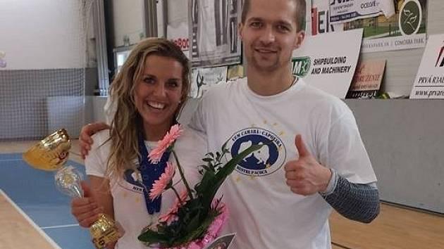Eliška Hancová s trenérem Karlem Popovičem