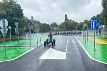 Nové dopravní hřiště v Mnichově Hradišti.