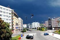 Nad Mladou Boleslaví se v sobotu kolem 14. hodiny zatáhlo.