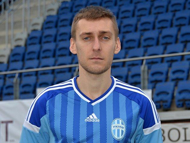 Jan Kalabiška po přestupu ze Senice zapózoval v dresu FK Mladá Boleslav.