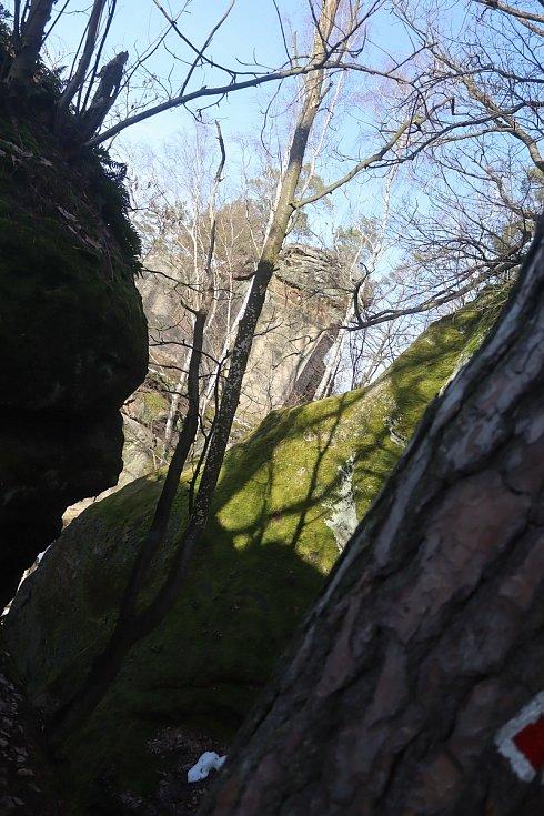 Na Valečově a Drábských světničkách bylo v sobotu 20. února nádherně.