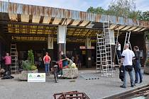 Oprava podloubí v Mnichově Hradišti se uskutečnila díky iniciativě dobrovolníků