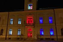 Hradišťská radnice oblékla národní barvy