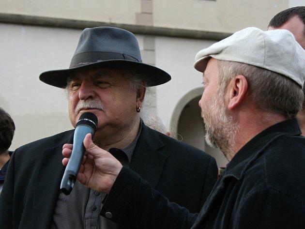 Milan Knížák navštívil Mladou Boleslav
