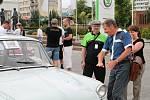 Patnáctý sraz vozů Škoda 1000 v Mladé Boleslavi.