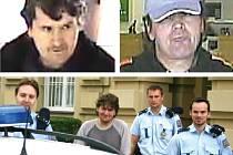 Lupiče Reného Červeně, který letos přepadl dvakrát stejnou banku v Mladé Boleslavi, odvádějí policisté od soudu. Skončil ve věznici s ostrahou, kde podle verdiktu soudu stráví dva a půl roku.
