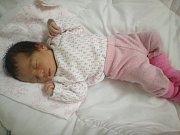Karolínka Bürgerová se narodila 7. listopadu, vážila 3,14 kg a měřila 47 cm.