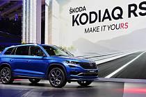 Škoda Kodiaq RS - Mezinárodní autosalon v Paříži, 2. října 2018. Představení sportovního SUV Škoda Kodiaq RS.