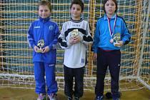 Nejlepší hráči bousovského turnaje. (Odleva) Vratislav Hlaváč, Tomáš Horyl, Jan Škaloud.