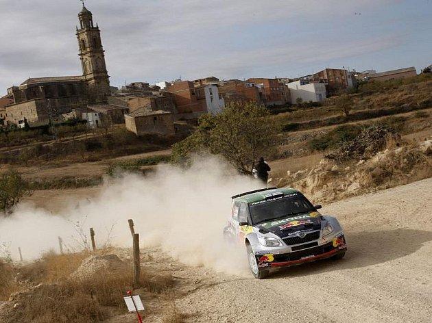 Juho Hänninen na trati Španělské rallye