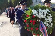 Pietní akt Dne osvobození v Bakově nad Jizerou.