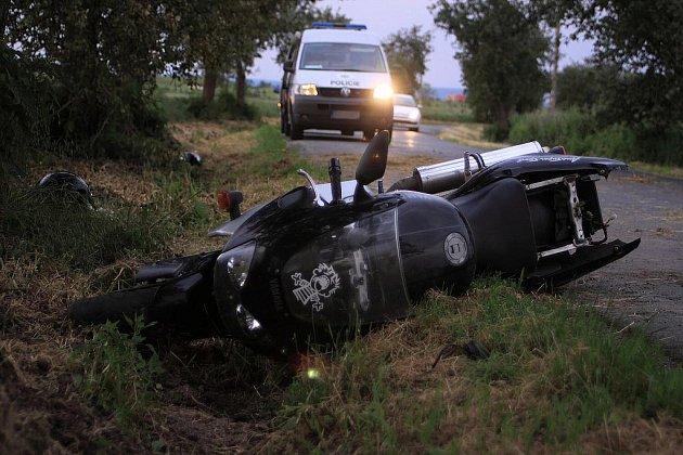 Nehoda motorky - ilustrační foto