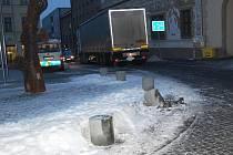 Dalšímu kamionu se nevyplatila jízda na Staroměstské náměstí.