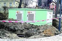 Trafostanice v Kosmonosích.