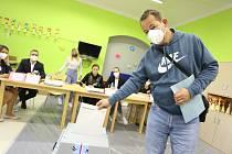 Volební okrsek číslo 1 v Mnichově Hradišti