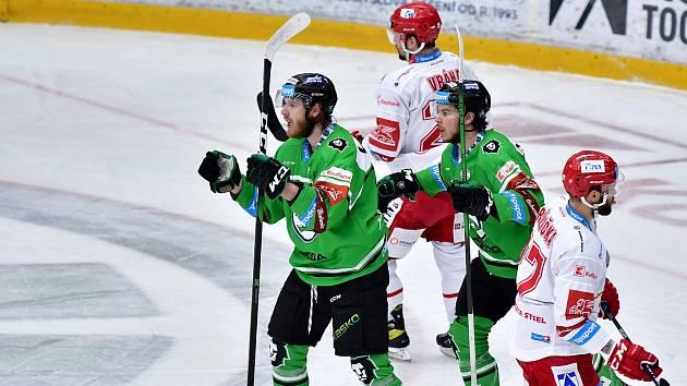 Šestý zápas semifinále play off hokejové extraligy mezi BK Mladá Boleslav a HC Oceláři Třinec.