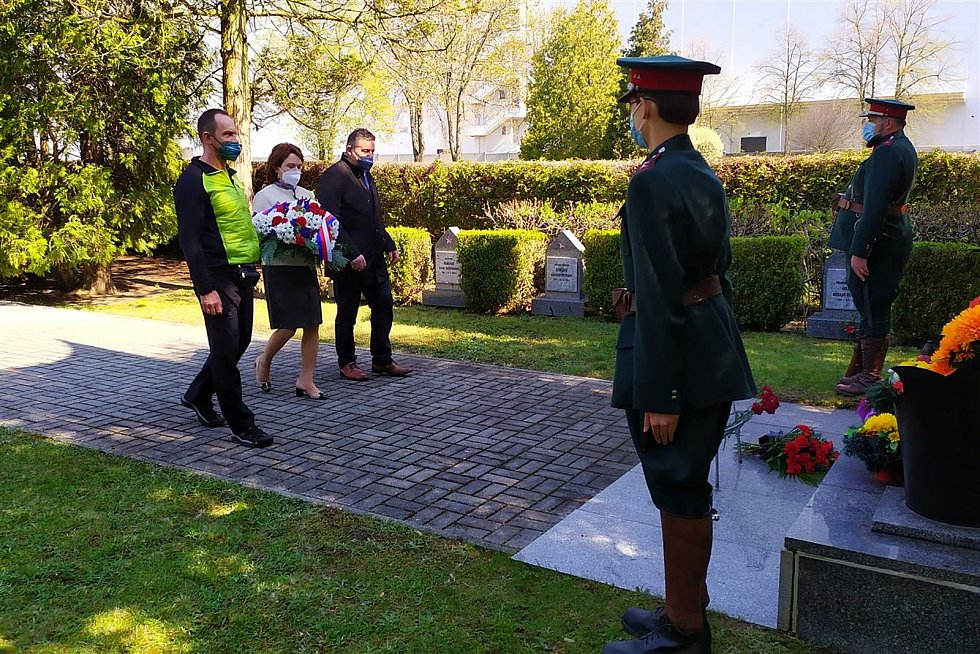 Uctění konce Druhé světové války v Mnichově Hradišti.