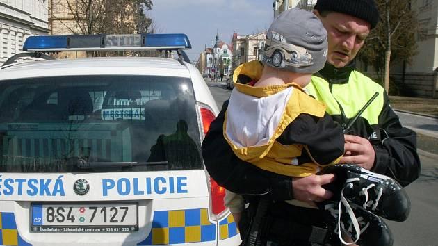 Ztraceného chlapečka našla městská policie